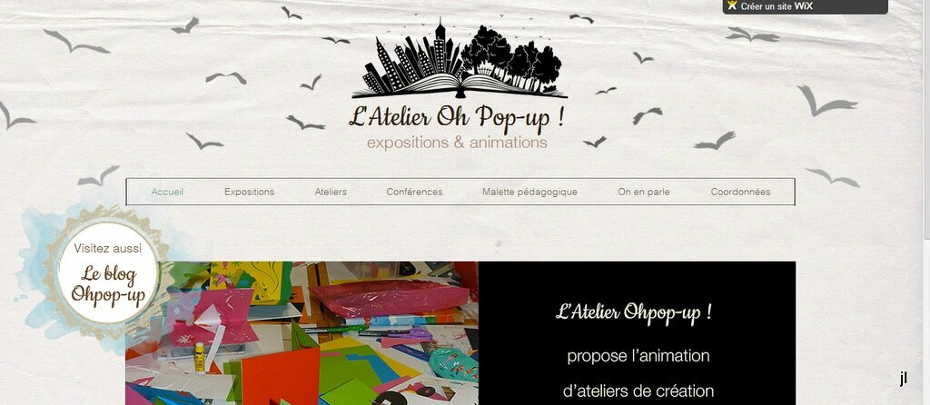 Ouverture du site pro de l'atelier Oh pop-up