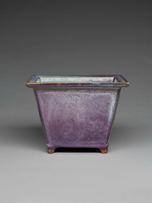 Rectangular Flowerpot with Four Small Feet, Ming dynasty, 1368-1644, probably 15th century