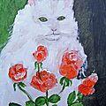 Le chat et les roses retrouverez ces peintures sur : http://lodya.artgallery.free.fr - ou ebay : lodya-art-gallery