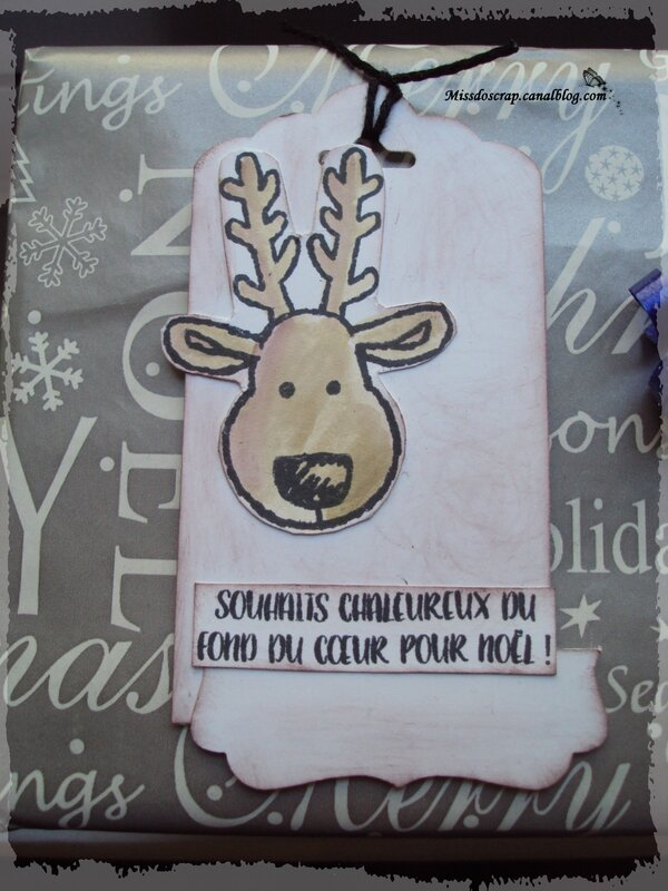 etiquette cadeau renne