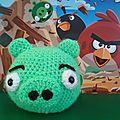 Amigurumi pig angry birds au crochet