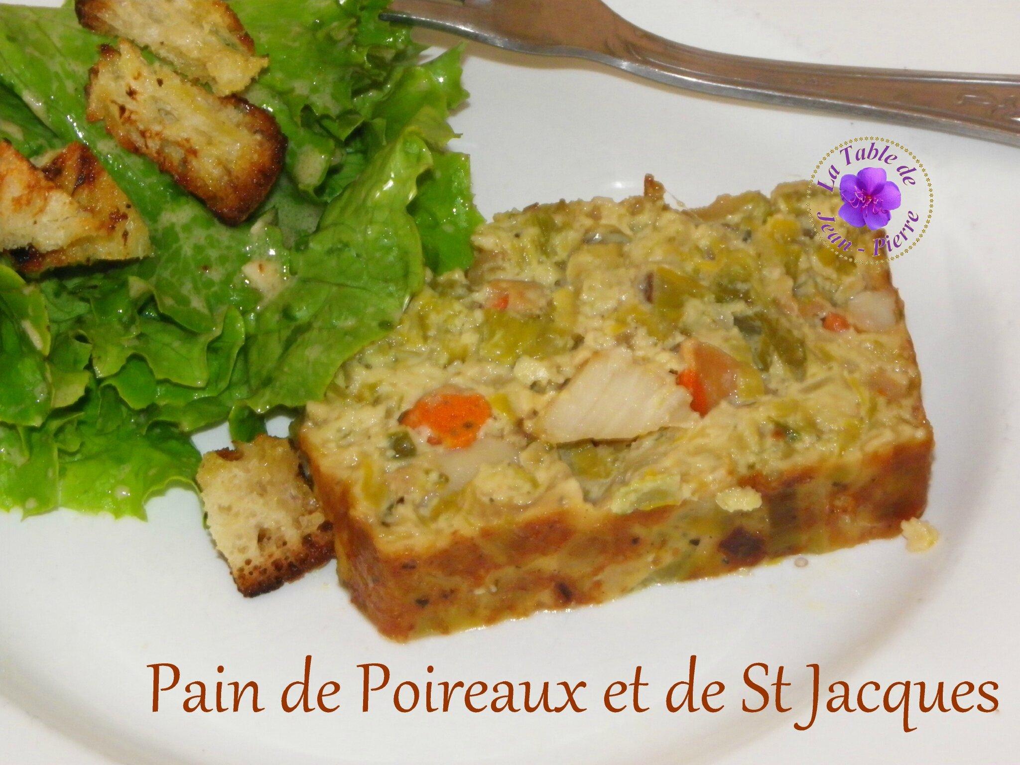 Pain de Poireaux aux Noix de St Jacques