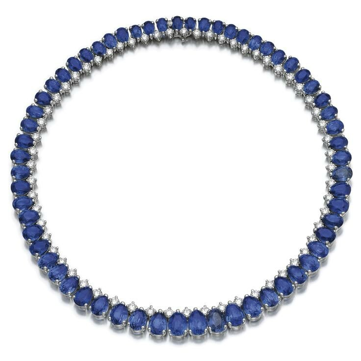 Sapphire and diamond necklace, Bulgari