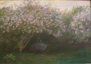 Lilas temps gris Monet