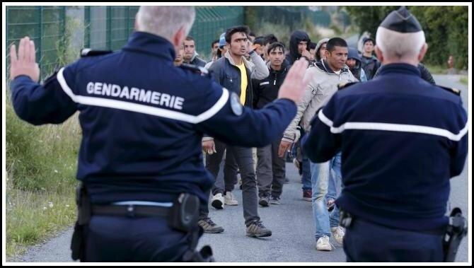 Gendarmerie migrants