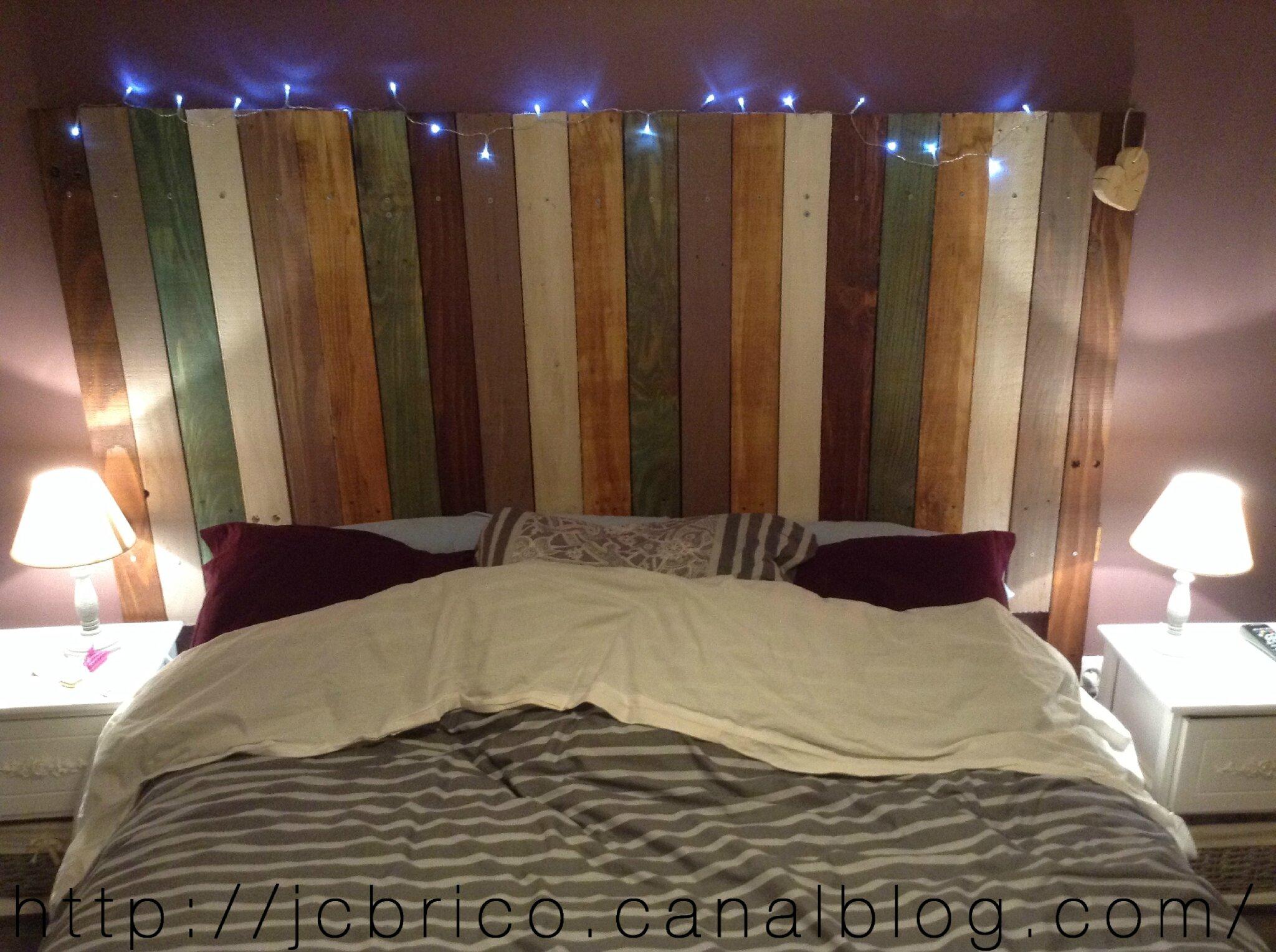 Cr ation d 39 une t te de lit en bois faire soi m me - Tete de lit en palette a faire soi meme ...