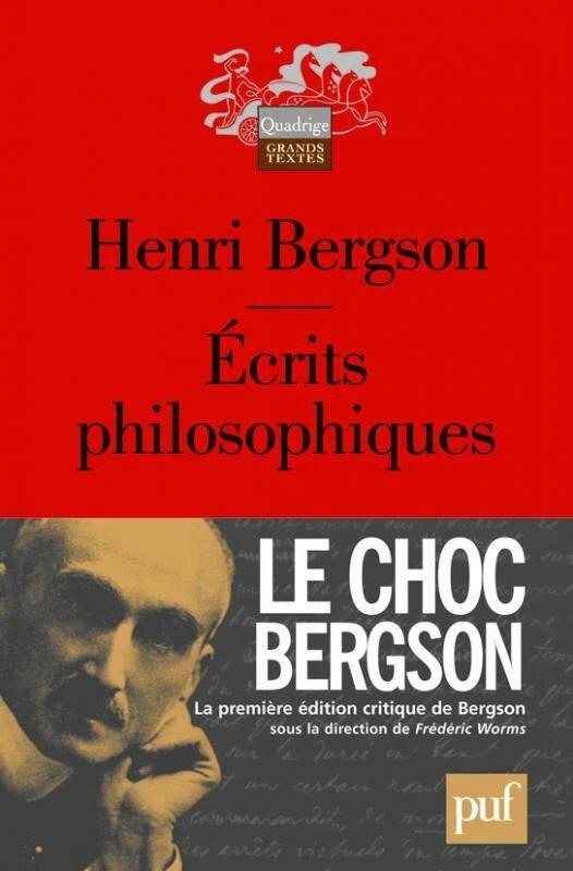 Bergson Écrits philosophiques couv