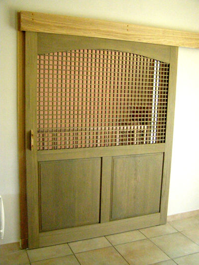 Porte coulissante photo de claustra au fil du bois - Porte coulissante entrepot du bricolage ...