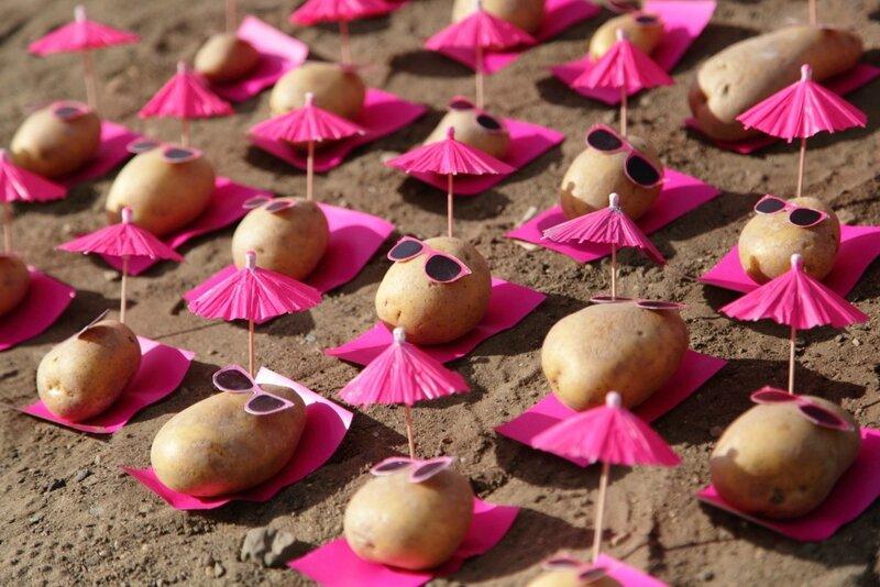 patates à la plage