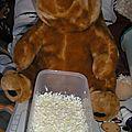 Cake au chocolat blanc en mug au micro ondes des oursons gourmands
