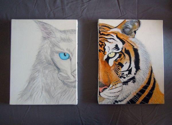 Double toile tigre filou