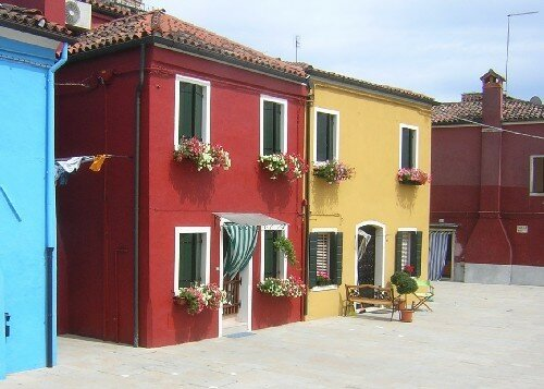 Jolies maisons à Burano