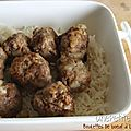 Boulettes de boeuf  l'orientale