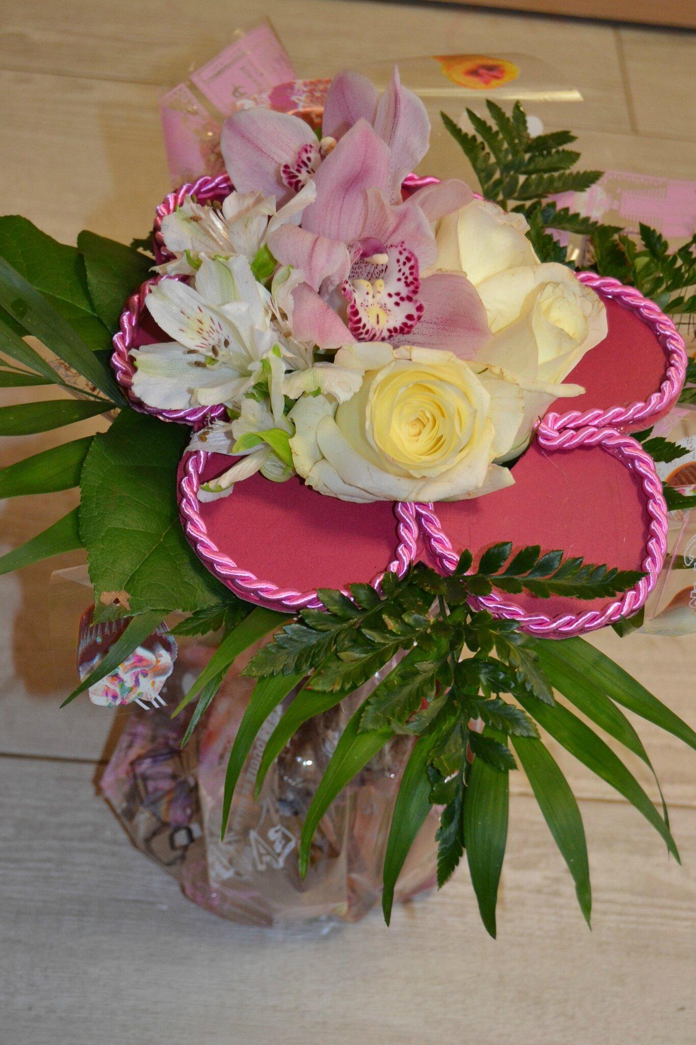 Bouquet unique et original bouquet de fleurs en forme de for Offrir des fleurs par internet