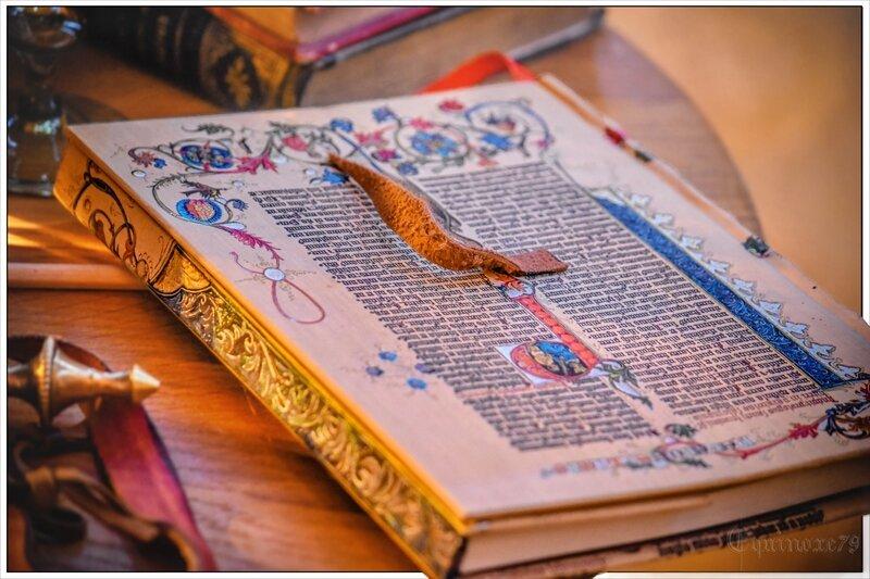 Manuscrit Recueil de contes et légendes de la la Compagnie de la Lune d'Ambre Abbaye Nieul sur l Autize