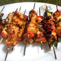 Brochettes de poulet sauce Teriyaki 