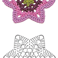 Stich crochet flower