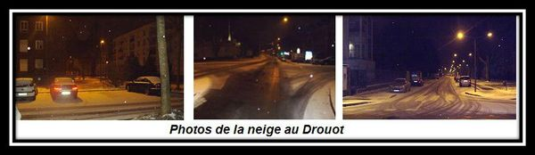 Photos de la neige au Drouot
