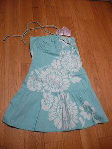 robe_plage_VictoriaBay_turquoise_fleurs_Billabong_1