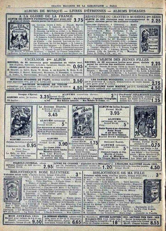 Samaritaine jouets 1916-7