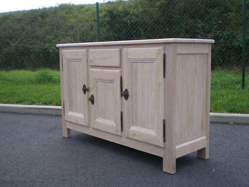 grand buffet bronze et lin au bois enchant. Black Bedroom Furniture Sets. Home Design Ideas