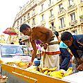 Camion regroupant les offrandes