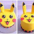 Layer cake pikachu (ou gâteau à étages)