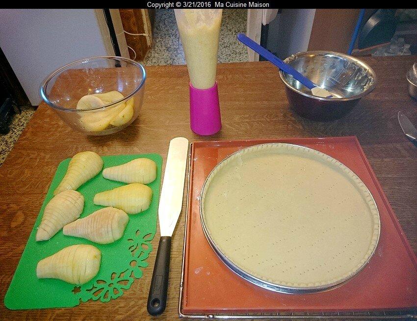 tarte bourdaloue (recette du mooc afpa semaine 5) - ma cuisine maison