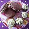 Les whoopies chocolat creme de pistache