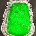 Chinese natural translucent jadeite pendant