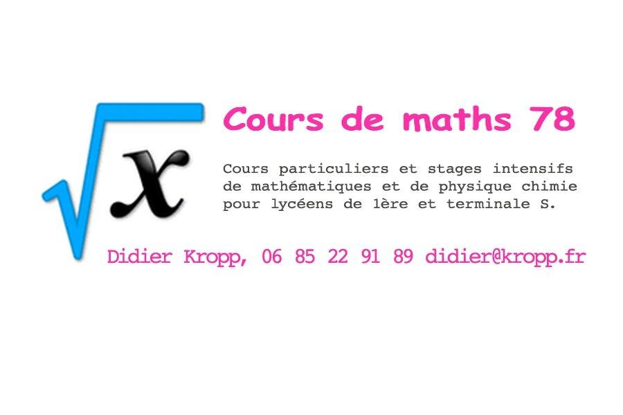 Entreprises Partenaires : Didier Kropp, professeur indépendant de mathématiques et physique