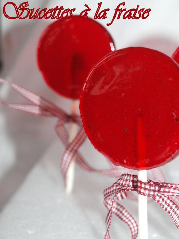 sucettes a le fraise
