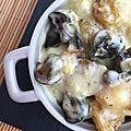 Cassolettes d'escargots au chaource et pommes de terre nouvelles