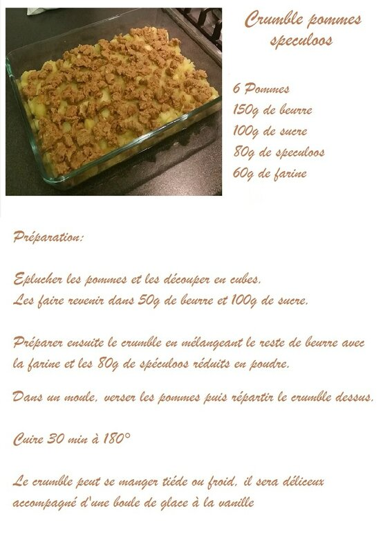 crumble pommes speculoos