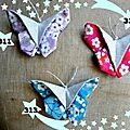 311, 312, 313. broches papillons