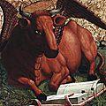 taureau de st Luc - Michel PACHER XVe s- GRAZ Joanneum Museum -