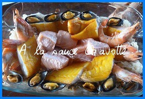 Choucroute de la mer, très facile à réaliser au four