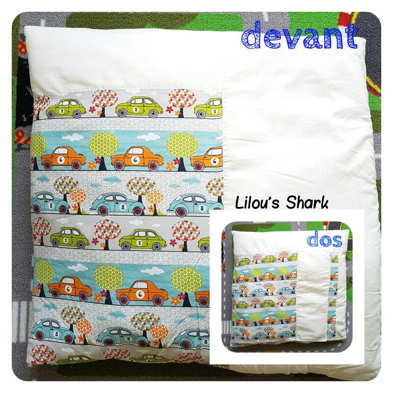 Faire sa housse de couette tuto diy lilou 39 s shark le blog for Coudre une housse de couette