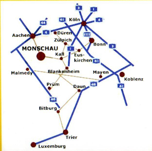 Monschau Plan De La Ville