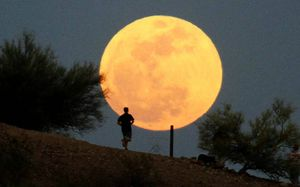 running to the moon photo Reuters