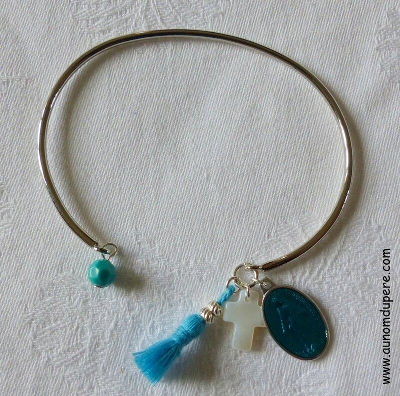 Bracelet de Nazareth (turquoise et argenté) - 16 €