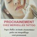 Maquillage permanent bientôt chez merveilles tattoo