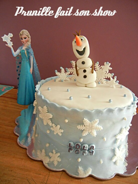 gateau olaf la reine des neiges prunille fee