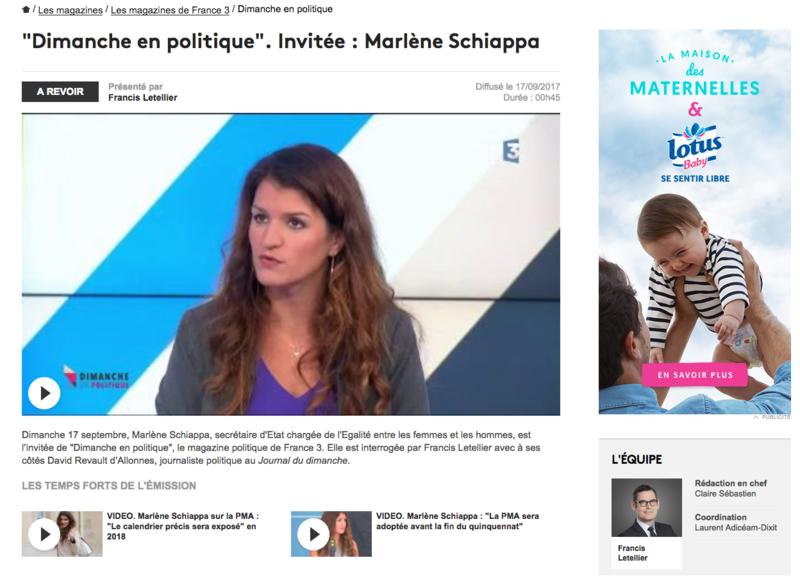 Marlene Schiappa Dimanche en politique