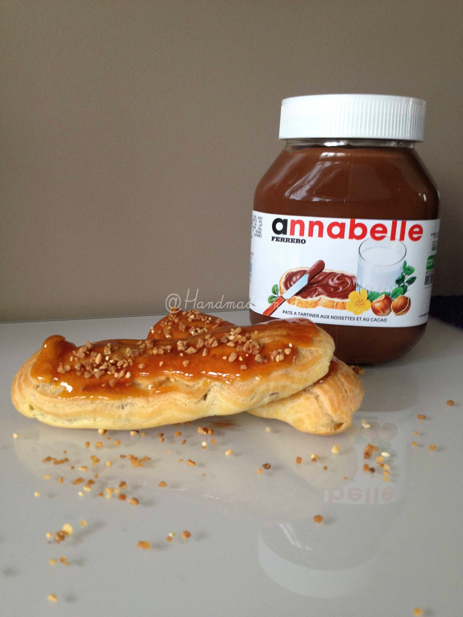 mon eclair au nutella moi handmade by anna. Black Bedroom Furniture Sets. Home Design Ideas