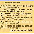 1946 29 novembre : médailles pour les pompiers