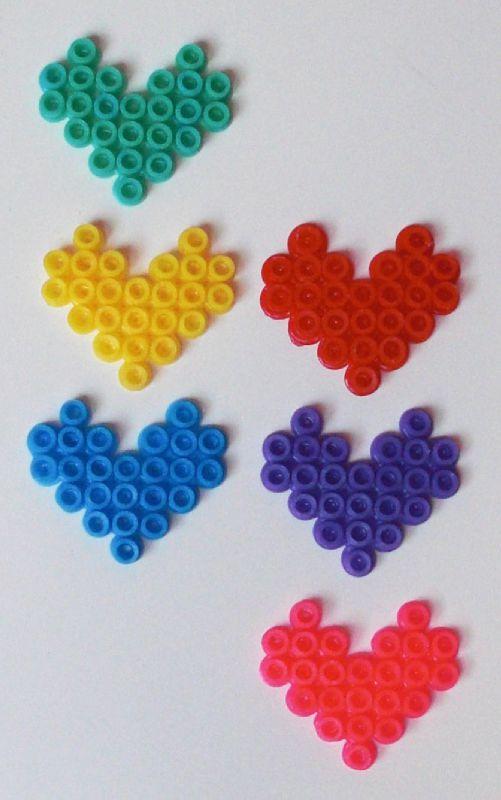 Les 6 couleurs possibles pour la bague coeur