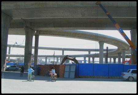 nvl échangeur au sud futur stade olympique_Tiajin_2005