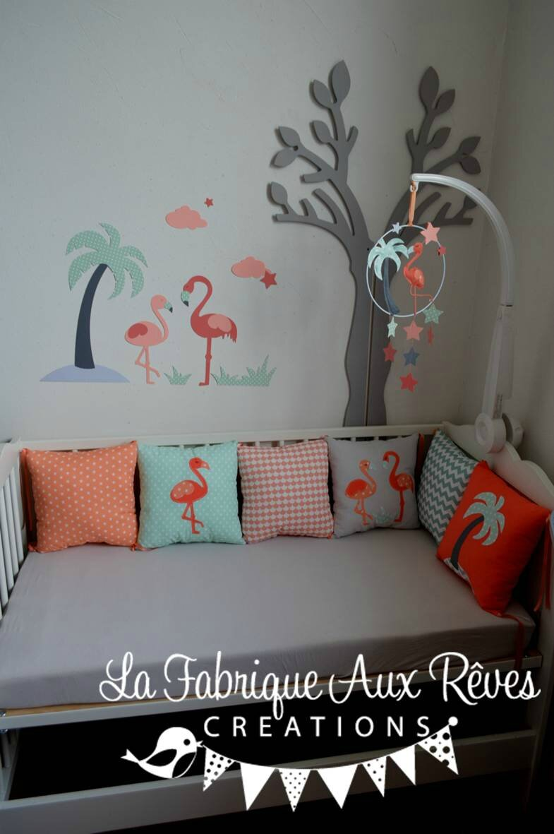 Chambre gris et rose for Chambre fushia orange