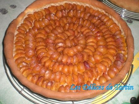 Tarte aux mirabelles (sur pâte levée)